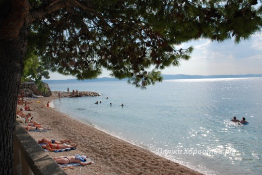 Podgora Main beach lsea view