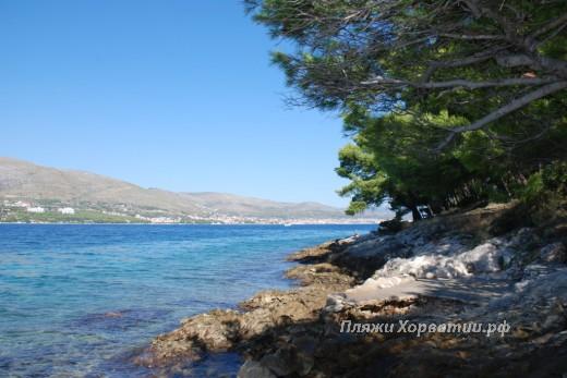 Okrug Donji beach (punte put) pine