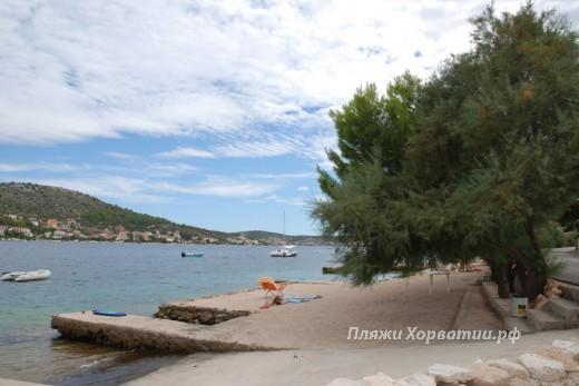 Rogoznica Crljina beach view