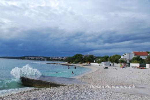 Rogoznica Sepurine beach view